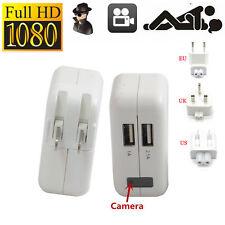 1080P WIFI USB SPY HD DIY Camera Hidden Wall Charger AC Adapter DVR UK Plug