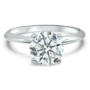 Herria Womens Solitaire Cubic Zirconia Engagement Ring