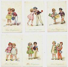 BUON COMPLEANNO Serie 6 cartoline augurali Antonio Collino bambini non viaggiate