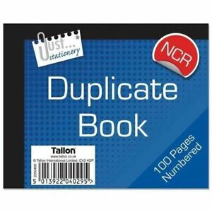 12 x Half Size Numbered Duplicate Book Pad 1-100 Ncr No Carbon Required Receipt