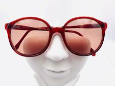 Vintage Pathway Spectacolors Burgundy Round Horn-Rimmed Sunglasses Frames Only