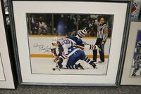 Wayne Gretzky Autographed 28x25 Framed Picture Edmonton Oilers with COA