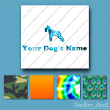 Custom Standard Schnauzer Dog Name Decal Sticker - 25 Printed Fills - 6 Fonts