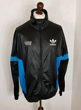 Rare Trefoil Adidas Chile 62 Tracksuit Jacket  Black Blue White XL Wet look