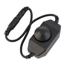 12V DC 0-100% PWM Manual Knob Dimmer Switch for LED Strip Light Black YLGH
