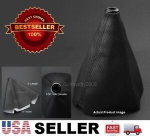 4 Seams Black PVC Carbon Texture Shifter Shift Gear Knob Boot For Dodge