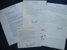 ARCHIVE of CORRESPONDENCE of Film Director RAOUL WALSH - SIGNED LETTERS & More