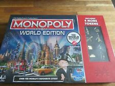 Monopoly Here & Now WORLD EDITION-Includes 4 More Tokens! NEW! RARE RED Edition