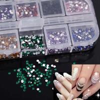 Chic 3600pcs Nail Art Rhinestone Glitter Decoration 3D Tips Diamond Gem 1.5mm LN
