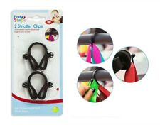 Stroller Clips Buggy Hooks Pram Baby Pushchair Shopping Bag Holder - Pack of 2