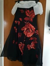 COAST Size 12 Greta Rose Black Party / Summer Ball Dress  NWT Was £160 in shops