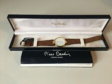 Pierre Cardin Chromachron Gold Plated Mens Watch With New Battery
