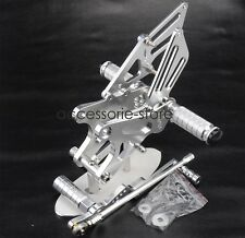 For YAMAHA YZF R1 2009-2014 Foot Peg Rearset Brake Shift Pedal Footpegs Silver