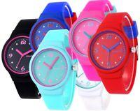 Armbanduhr Damen Silikon Gummi Sport Uhr Jelly Blogger Trend Geschenk Quarz Blau