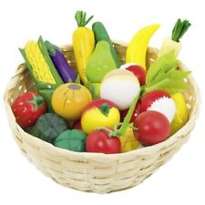 Frutas Y Verduras Madera - en la Cesta Tienda de Juguete 21 Piezas Goki 51660