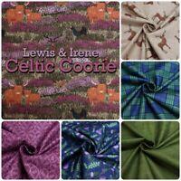 Lewis & Irene Celtic Coorie Scottish Highland Animals Cotton Patchwork Fabric