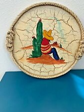 Old Mexico vintage Early California Monterey Crackle Wood Rancho Art RUELLE
