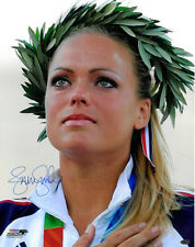 Jennie Finch signed Olympic Team Usa 16x20 Photo w/ Crown (04 Olympic Ceremony)
