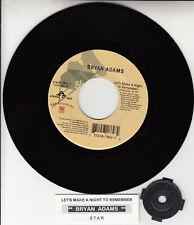 "BRYAN ADAMS  Let's Make A Night To Remember 7"" 45 rpm record NEW + jukebox strip"