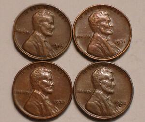 1930 D; 1931 P; 1932 P & 1932 D Lincoln Cents