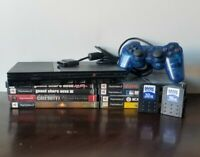 PlayStation 2 PS2 Slim Black Console  - Works Great 8 Games Grand Theft Auto Lot