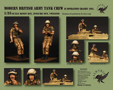 1/35 Scale resin model kit Modern British Army Tank Crew Operation Granby 1991
