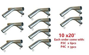 """1-1/2"""" Pipe High Peck Canopy Fittings Kit for 10' x10'/20'/30'/40' Carport Patio"""