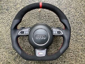 AUDI A3 Q3 A4 S4 A5 S5 RS5 Q5 QS5 DSG CUSTOM MADE FLAT BOTTOM STEERING WHEEL
