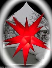 estrellas de Adviento Plegable Ø 52 exteriores NAVIDAD 15 Zack rojo 4m Cable 114