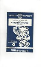 Sheffield Wednesday v Manchester United Football Programme 1965/66
