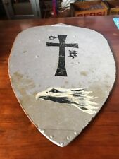 Vintage Handmade Wooden Shield Painted Eagle Renaissance Live Action Role ? Rare