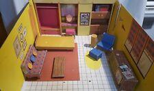 Vintage 1962 Mattel Barbie Teen Dream House with Original Furniture Accessories