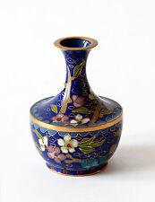 Antico Vaso Cloisonnè Cinese Oriental Ancient Antique Old Vase Cina Copper H.8cm