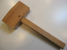 SMALL OAK WOODWORKER CARPENTER AND CARVERS MALLETS