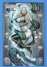 LADY DEATH SCORCHED EARTH #1 NM 2019 SZERDY JEWEL VARIANT Signed Pulido!! COA!