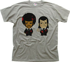 Pulp Fiction Funny Cartoon Gris Oscuro Algodón Printed T-shirt 9955