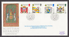 1987 SCOTTISH HERALDRY SET OF 4 ON D G TAYLOR LIMITED EDITION FDC