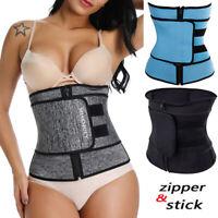Men Women Waist Trainer Body Shaper Fajas Sauna Neoprene Shapewear Belt Slimming