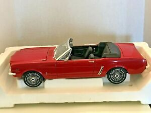 ERTL 1/12 SCALE 1964 FORD MUSTANG CONVERTIBLE RED WITH BLACK INTERIOR DIECAST