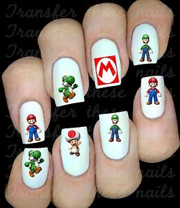MARIO KART Stickers autocollant ongles manucure nail art water decal déco