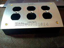 HIFIChassis  US AC Power Strip Bar Distributor Aluminum 6 Outlet Box HIFI