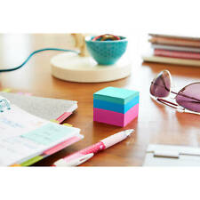 Post-it Notes Mini Cubes, 2 x 2, Assorted Ultra Colors, 3 400-Sheet Pads/Pack