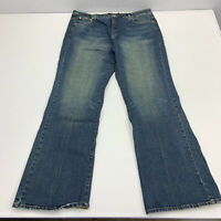 Ashley Stewart Jeans Womens Size 20T Tall Blue Boot Cut Stone Wash Pants