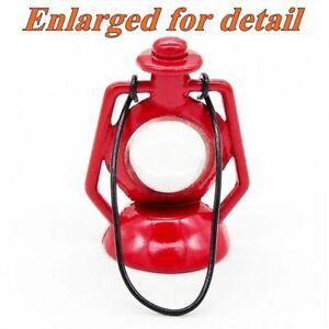 "MINIATURE 1.5"" RED KEROSENE LAMP LANTERN for FAIRY GARDEN OR DOLLHOUSE NIP"