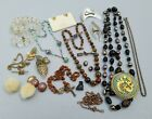 Small Joblot Vintage/antique Jewellery For Spares & Repair (inc Micro Mosaic)