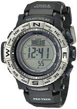 Casio PRW3500-1 Mens Sport Pro Trek Triple Sensor Tough Solar Black Resin Watch