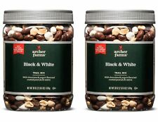 2 Pack Archer Farms Black & White Trail Mix - 38 oz Plastic Jars