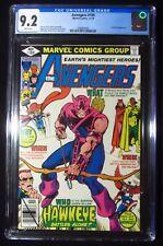 Avengers #189 (1980 Marvel) CGC 9.2...Deathbird app...Awesome Hawkeye cover