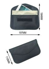 Black Anti-Tracking RFID Blocker Anti-Radiation Case Bag-iPhone, Droid, etc;