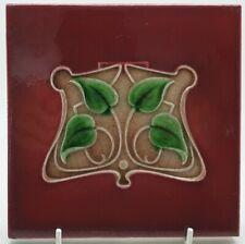 Antique Art Nouveau Majolica Tile C1905 T & R Boote